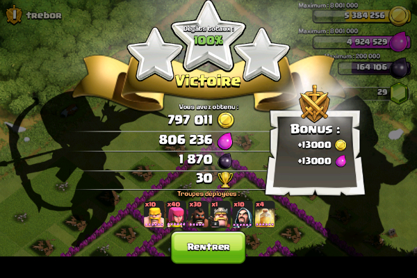 Clash of clans attaque hdv 8 farm