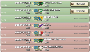 Résultat de guerres de clan LUCKYSTARS