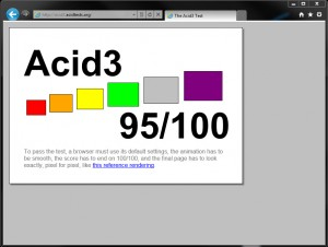 IE 9 Beta - Acidtest 3