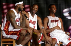 James, Wade et Bosh